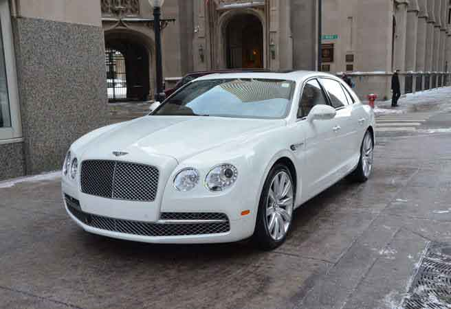 Bentley Flying Spur White Oakland
